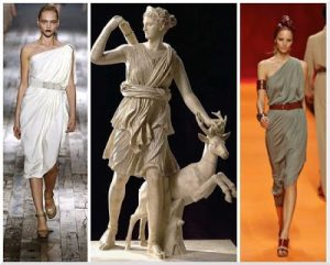 Lanvin Ancient Greece Ionic Chiton and Himation influences
